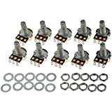Guitar Potentiometer Audio POTS A500K OHM Replacement for Electric Guitar Pack of 10