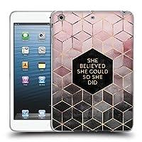 オフィシャルElisabeth Fredriksson Believe 2 タイポグラフィ iPad mini 1 / mini 2 / mini 3 専用ソフトジェルケース