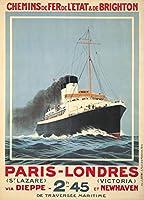 パリ–Londres–ベルサイユヴィンテージポスター(アーティスト:フック、Sandy )フランスC。1920 12 x 18 Art Print LANT-64590-12x18