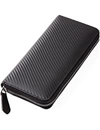 BARONS [公式] 長財布 ラウンドファスナー カーボンレザー メンズ 3色 大容量 スキミング防止 小銭入 箱付
