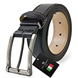 ドルチェ マルガリータ プレミアム イタリア本革ベルト 革幅3.5cm 黒 dmp-52-a-bk