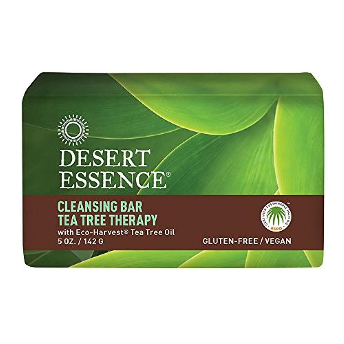 おばさん窒息させる出撃者海外直送品Desert Essence Tea Tree Therapy Cleansing Bar Soap, 5 oz