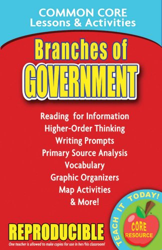 Download Branches of Government: Common Core Lessons & Activities 0635105888