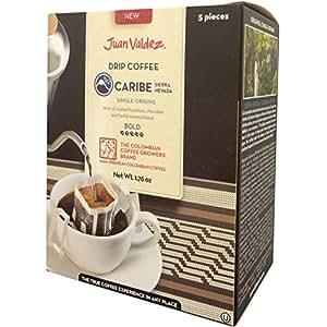 Juan Valdez(フアン・バルデス) シングルオリジンコーヒー【カリブ/シエラネバダ】コーヒー粉10g (抽出時180ml用) 5パック入り