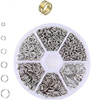 Round Can, Silver, Diameter 0.16, 0.24, 0.24, 0.31, 0.4 inches (4, 5, 6, 7, 8, 10 mm), with Ring, Jump Rings,