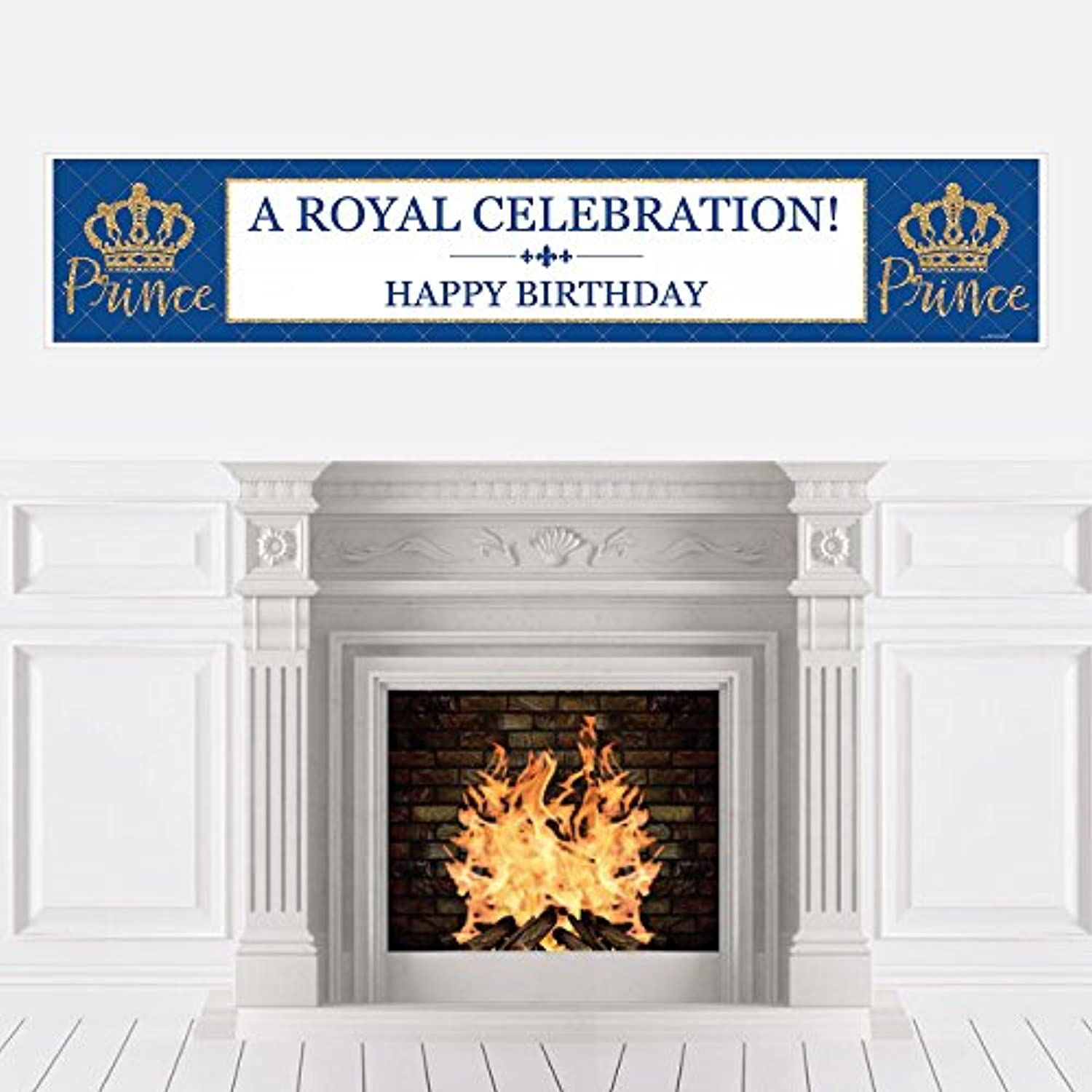 Royal Prince Charming - Birthday Party Decorations Party Banner