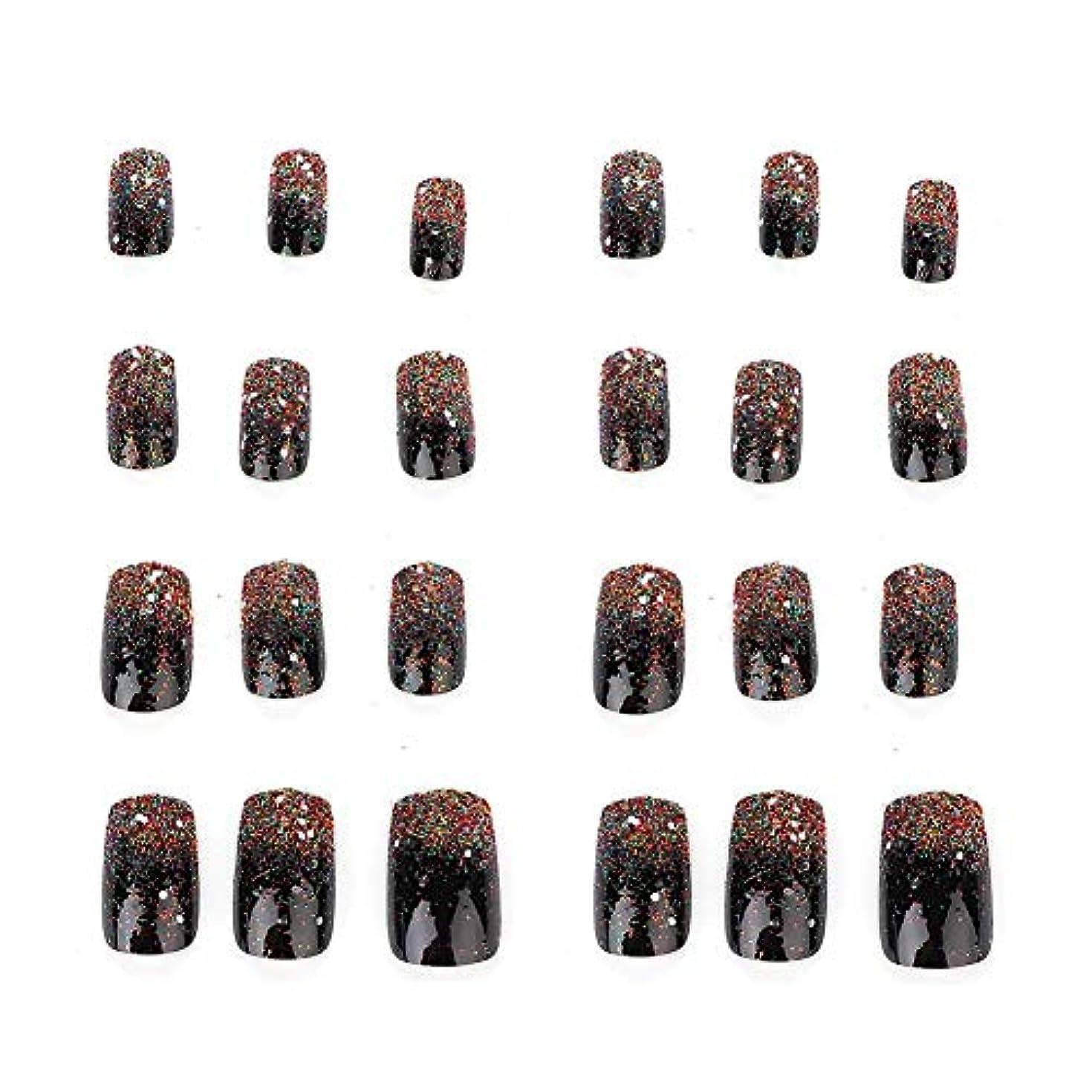 ガウンマーケティングショートカット5種類の取り外し可能なフルカバー偽爪のヒント人工手マニキュア装飾(03)