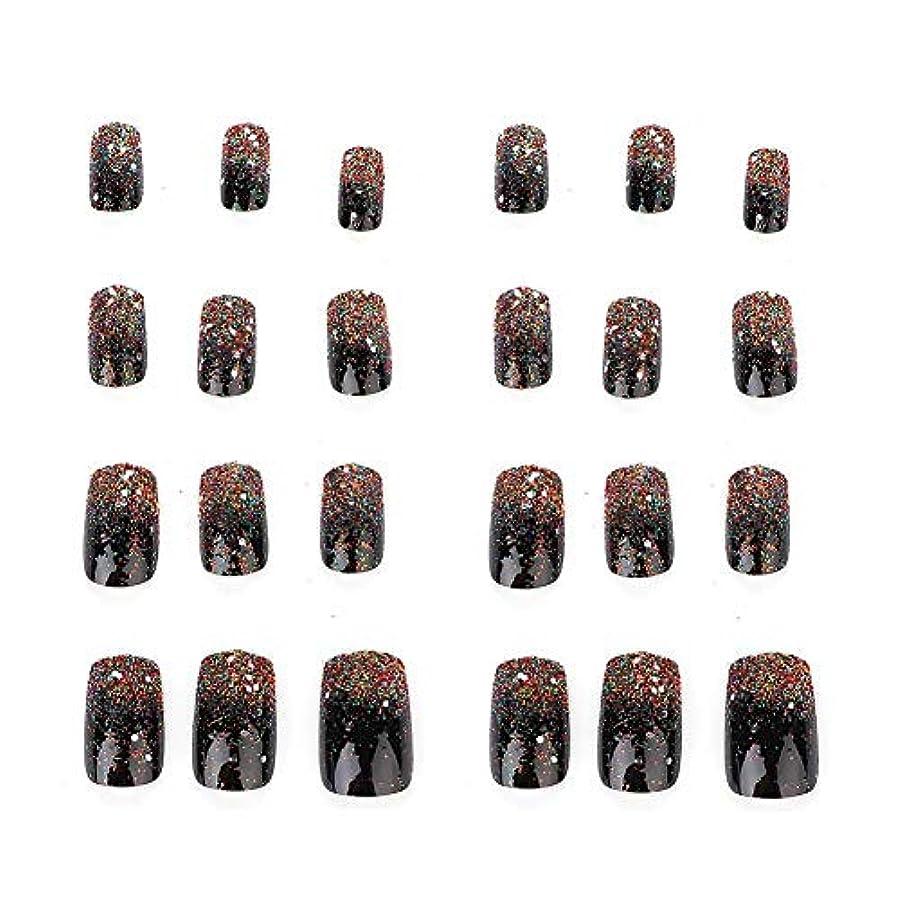 フェロー諸島銀河条件付き5種類の取り外し可能なフルカバー偽爪のヒント人工手マニキュア装飾(03)