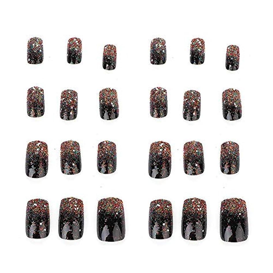 呪い教会組み立てる5種類の取り外し可能なフルカバー偽爪のヒント人工手マニキュア装飾(03)
