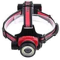 ヘッドライト ヘッドランプ LEDヘッドライト 4つの点灯モード 登山 夜釣り アウトドア作業 電池式(付属しない) Broadroot