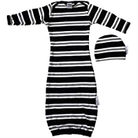 Woombie Indian Cotton Gowns Plus Hat, Jailhouse Rock, 16-23 Lbs by Woombie
