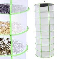 DADANGSH ハーブ植物芽乾燥ネット8層棚乾燥機ハンギングラック高速乾燥収納ネット DIYツール