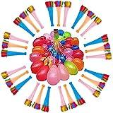 しあわせ倉庫 水風船 爆弾 大量 1100個 ホースアダプター セット 水遊び バーベキュー 夏 パーティー イベント 子供会 誕生日 (1100個)