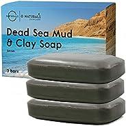 Dead Sea Mud Salt Natural Bar Soap Minerals Face Body Cleanser Hand Soap Helps Acne Pimples Eczema Exfoliate D
