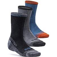 CQR 3, 5 Pack Men's Multi Performance Outdoor Sports Hiking Trekking Crew Socks