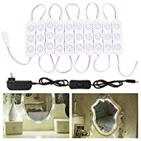 ZGXバニティミラーライト、10ft 60led DIYライトキットfor CosmeticメイクアップDressing Vanity with電源供給プラグon / offスイッチ、ナチュラルホワイト 5FT 30 leds ZGX005