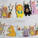 アニマル音楽隊 動物 楽器 旗 ガーランド 誕生日 飾り パーティ お祝い 幼稚園 赤ちゃん (楽器)