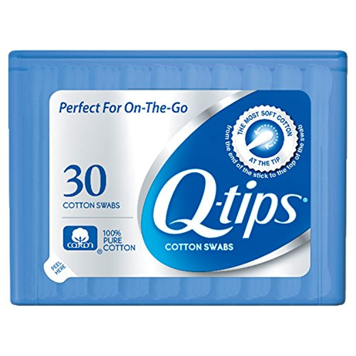 Q-tips Swabs Purse Pack 30 Each by Q-Tips