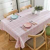 [テンカ]テーブルクロス チェック柄 北欧柄 PVC 素材 防水 撥水 チェック柄 食卓カバー 簡約 家庭用 120*120cm