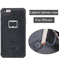RONNEY'S Multifunctional With Cigarette Lighter & Bottle/Beer Opener Case Cover for IPhone 6+/6S+ BLACK