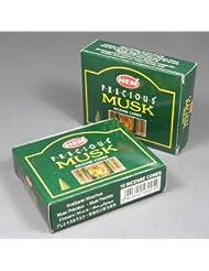 Hem Precious Musk Incense Dhoop Cones、10円錐のペアボックス – (in200 )