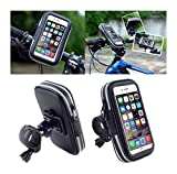 M576 DFV mobile - Professional Reflective Support for Bicycle Handlebar and Rotatable Waterproof Motorcycle 360 ? for => MEIZU PRO 5 M576 (MEIZU NIUX) (2016) > Black