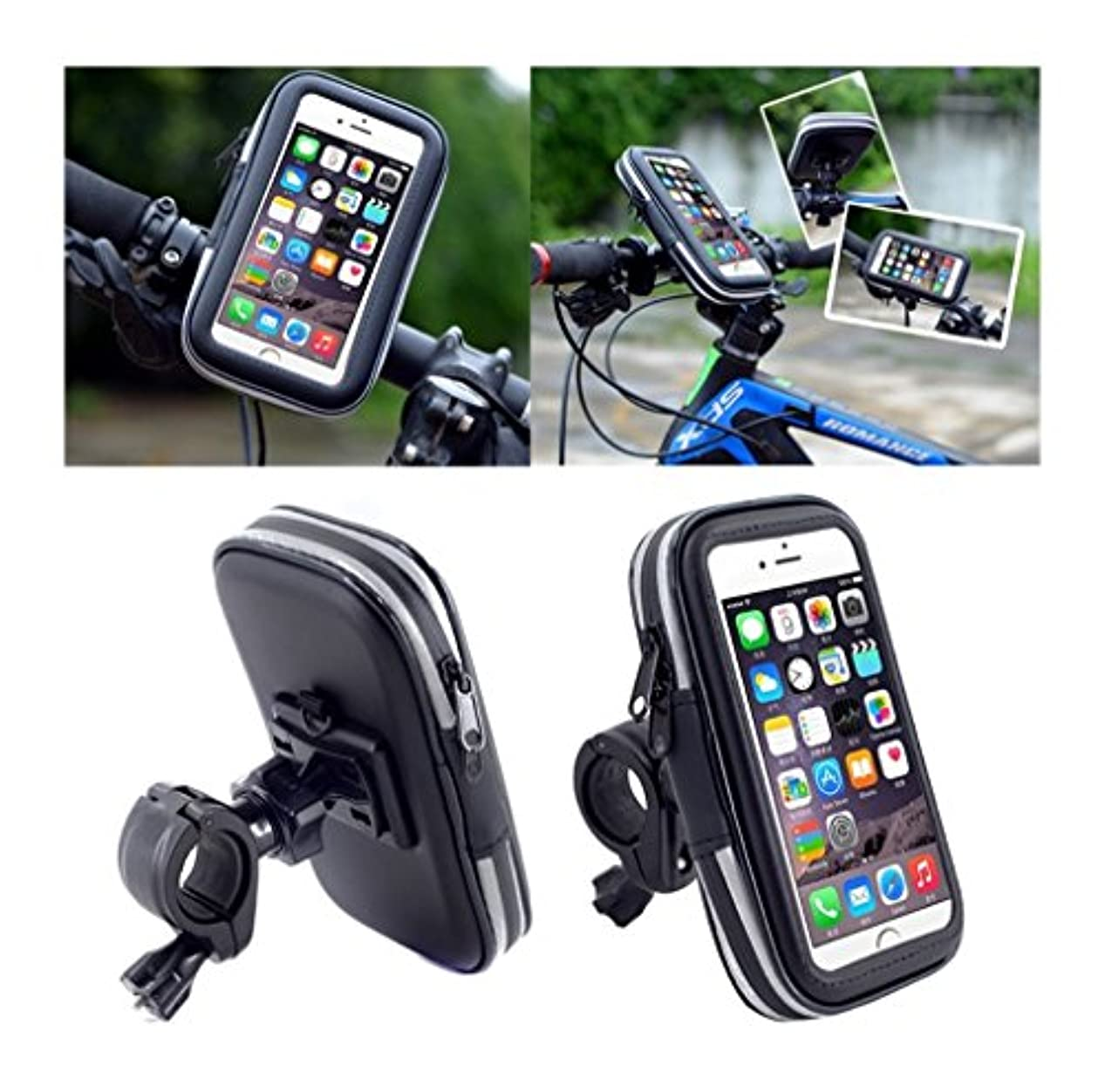 障害量競うDFV mobile - Professional Reflective Support for Bicycle Handlebar and Rotatable Waterproof Motorcycle 360 ? for => PRESTIGIO MULTIPHONE 5307 DUO > Black