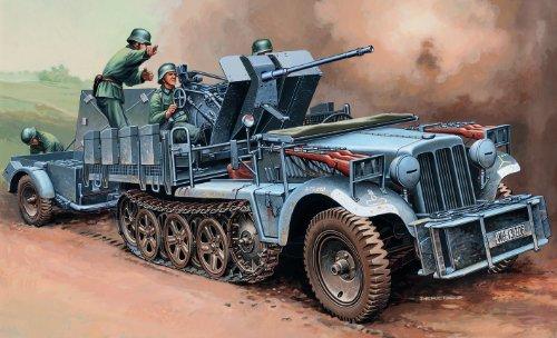 イタレリ 6395 1/35 Sd.Kfz.10/4 2cm対空機関砲搭載