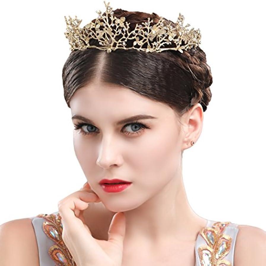 カードアストロラーベアラバマYeanティアラ 王冠 おうかん クラウン ヘアアクセサリー ゴールド レディース ガールズ 女性 プリンセス 結婚式 ウェディング 花嫁 披露宴 パーティー (Color-05)