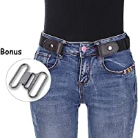 """Women Girls No Buckle Belts - Stretch Waist Belt Up to 42"""" Women Invisible Belts for Jeans Pants Dresses"""
