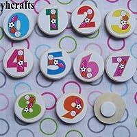 1000 ピース/ロット、 0-9 数字ウッドステッカー教える自身早期学習知育玩具幼稚園工芸品子供のおもちゃ diy のおもちゃ