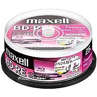 maxell 録画用(くり返し録画用)BD-RE 2倍速 25枚スピンドルケース入 BEV25WPE.25SPZ