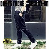 DUSTSTROKE ( ダストストローク ) 選べる ( 3色 ) テーパード メンズ チノパン (小さい サイズ も ) 3D 美 シルエット チノパンツ M L 黒 ブラック キャメル ブルー ストリート カジュアル きれいめ ロック パンツ ズボン
