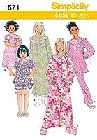 Simplicity Child Girl Sleepwear-3-4-5-6 (並行輸入品)