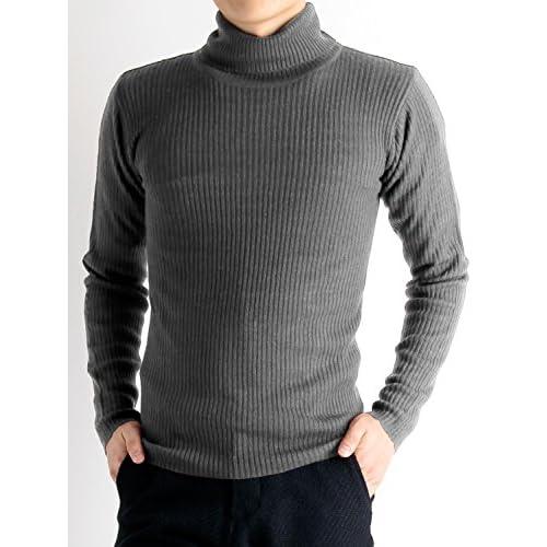 (ラフタス)Rafftas タートルネック ニットセーター M サイズ グレー 秋 冬 秋冬用 ロンtee 長袖tシャツ メンズ mens