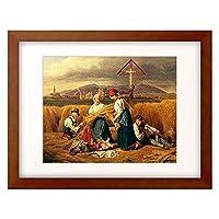フェルディナント・ゲオルク・ヴァルトミュラー 「Harvest (near Zell am See). 1846/47.」 額装アート作品