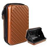 TWJD スマホ 通帳 ケース スーツケース 型 旅行 バッグ ミニ キャリーバッグ スーツケース型 アメニティポーチ トラベルポーチ ABS+PC素材 (オレンジ)