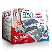 Spacesaver プレミアム真空収納袋(3 xスモール、3 xミディアム、3 xラージ、3 xジャンボ)(主要ブランドより80%多くのストレージ)