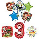 トイストーリー3rd BirthdayパーティーSuppliesとバルーンブーケデコレーション