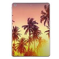 第2世代 iPad Pro 10.5 inch インチ 共通 スキンシール apple アップル アイパッド プロ A1701 A1709 タブレット tablet シール ステッカー ケース 保護シール 背面 人気 単品 おしゃれ 夏 ヤシの木 夕日 011302