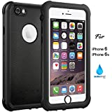iPhone 6 6S Waterproof Case, IP68 Case by ASAKUKI, Certified Case, Full Body Protective, Shockproof, Scratch-Proof, Dustproof Case with Sensitive Screen Protector
