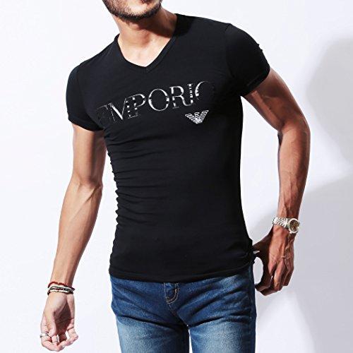 エンポリオアルマーニEMPORIO ARMAN Tシャツ メンズ Vネック 半袖 EAGLE LOGO [並行輸入品]