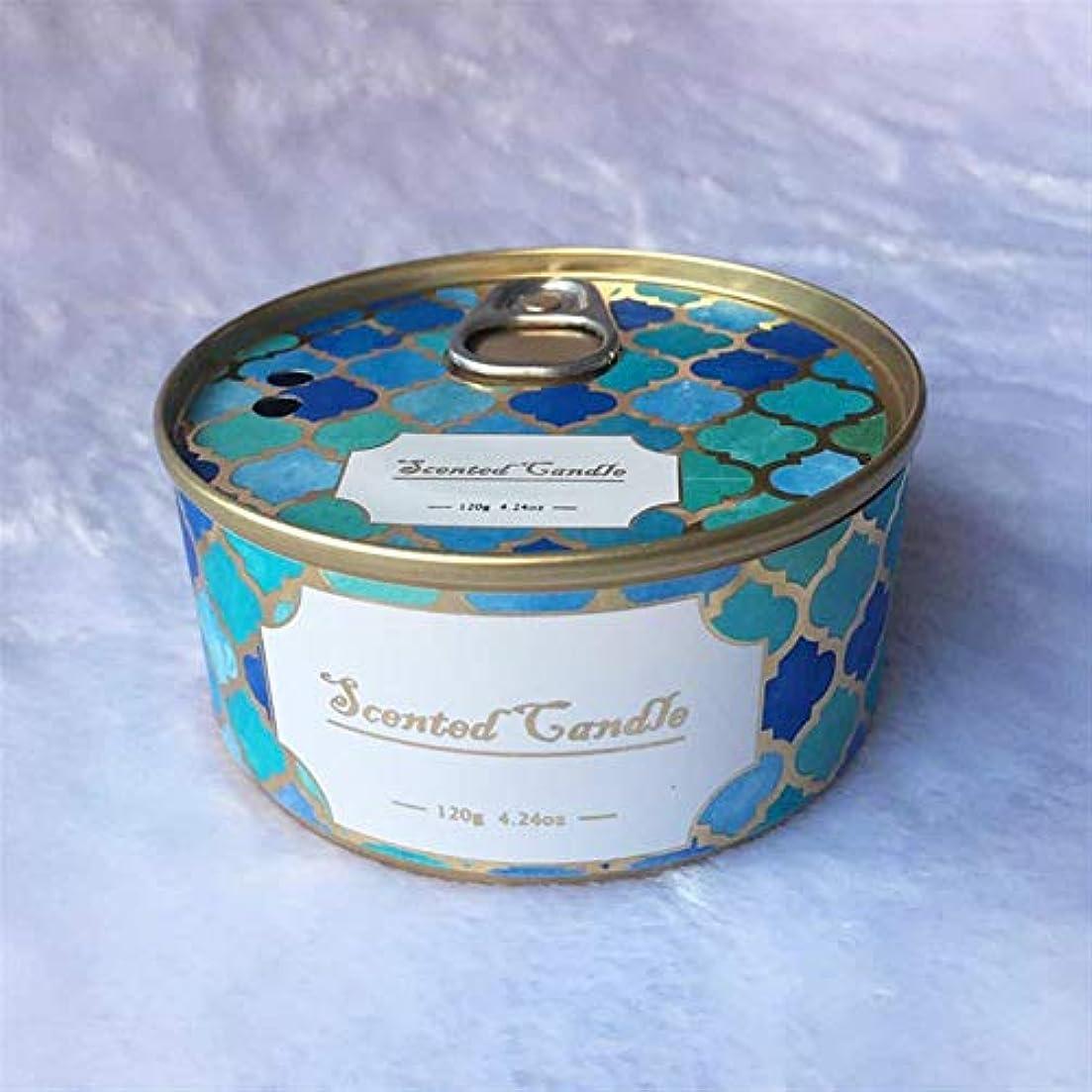 アラームレンド滝Guomao ブリキ缶植物エッセンシャルオイルハイエンドギフト大豆ワックスモスオーキッド香りのキャンドル (色 : Moss)