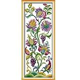Anself DIY クロスステッチセット 刺繍キット14CT美しい花柄 クロスステッチ 21*50cm ホームの装飾