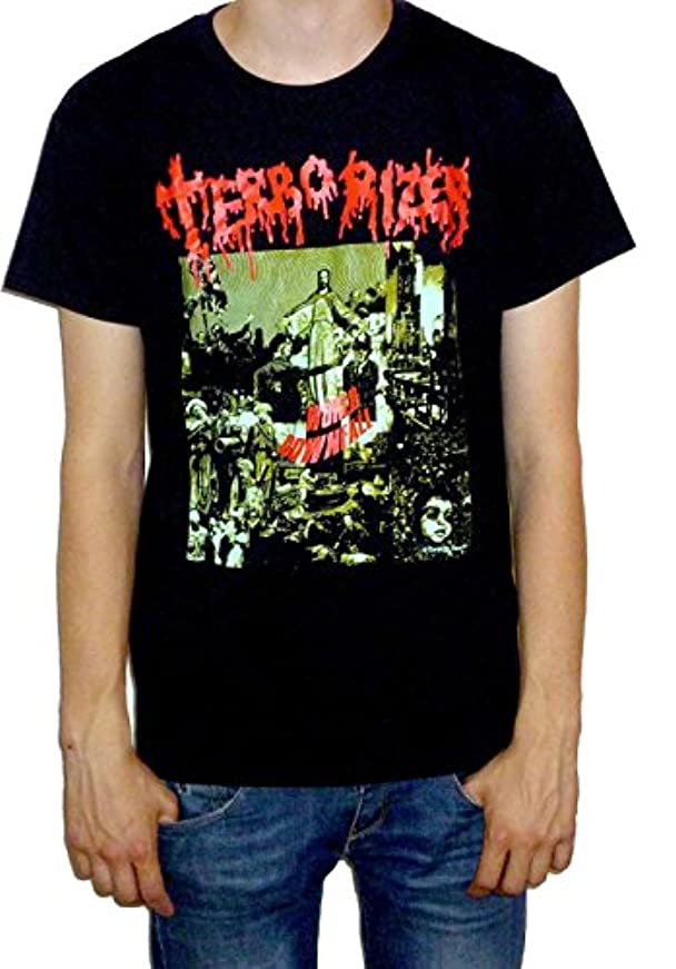 自動化人質気になるTerrorizer - World Downfall T-shirt