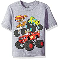 Nickelodeon Toddler Boys' Blaze and The Monster Machines Short Sleeve T-Shirt, Heather Grey