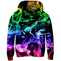 Funnycokid Teen Hoodies 3D Print Pullover Fleece Sweatshirts Hooded Jumpers 3-10Y