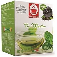 Dolce Gusto専用互換カプセル ミント Menta 原産国:イタリア Caffè Bonini社製造。ペパーミント葉100%。ノンカフェイン、ミントの香りが抽出し始めたらすぐに漂う、ハーブ愛好家も驚く御手前です。