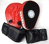 Carennac グローブ 湾曲デザイン ミット セット ボクササイズ ボクシング パンチング トレーニング 男性 女性 お子さんも グローブ2個ミット2個のセットです(グローブ・ミットセット)