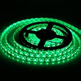 12V高輝度LEDテープライト SMD 2835 3528 5M 300連 強力粘着両面テープ 正面発光防水仕様IP65 切断可能 (緑)